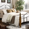 Jaycee Queen-Size Antique Bronze-Metal Bed Frame with Wood Posts