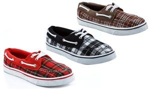Rasolli Women's Plaid Boat Sneakers