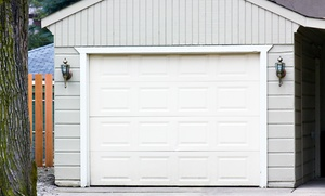 Open & Closed Garage Doors: $100 for $279 Towards Door Tune-Up, Lube and Balance, and 10 Quiet Nylon Rollers with Installation