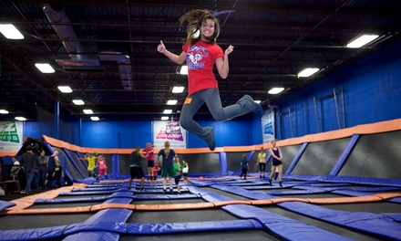 Two 60-Minute Jumps and Two Pairs of Socks at Sky Zone (Up to 50% Off)
