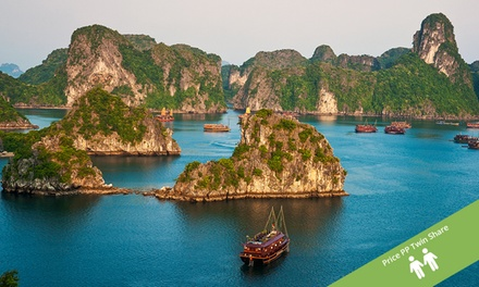 Vietnam: ,029 Per Person Day Tour with Cruise, Tran Ride, and Domestic Flights with Halong Tours Booking