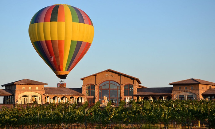 Tuscany Hills Resort and Spa - Escondido, CA: 1-Night Stay for Two at Tuscany Hills Resort with a Hot Air Balloon Flight from Sunrise Balloons