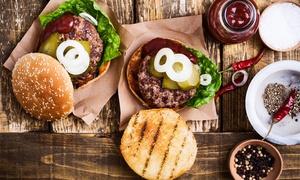 2 menus burgers avec frites et boissons