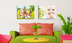 "Picture It On Canvas: One 8""x10"", 11""x14"", or 16""x20"" Custom Gallery-Wrapped Photo Canvas from Picture It On Canvas (Up to 80% Off)"