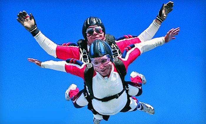 Desert Skydiving Center - Buckeye: $319 for Tandem Skydive for Two with Commemorative T-shirts from Desert Skydiving Center ($568 Value)