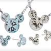 Disney Mickey Birthstone Earrings and Pendant