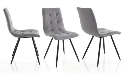 Set di 2 sedie imbottite Tania