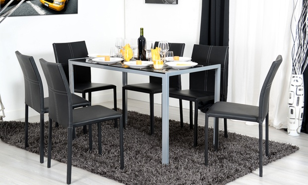 Table ou console extensible chaises groupon shopping - Table extensible chaises ...