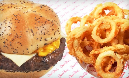 $14 for Four $7 Vouchers Good for Burgers and More Across Four Visits at Char Hut. Four Locations Available.