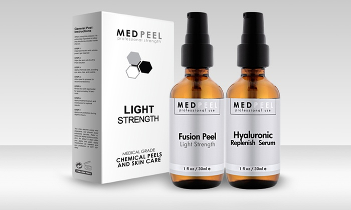 At-Home Fusion Anti-Aging Pro Peel: At-Home Fusion Pro Peel and Hyaluronic Anti-Aging Serum Combo.