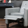 Deana Tufted-Leather Club Chair Recliner