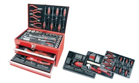 Caja de herramientas de garaje con 155 piezas