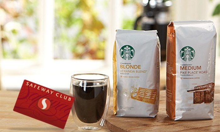 Starbucks at Safeway: $9 for a Bag of Starbucks Coffee from Safeway and a $5 Starbucks Card egift ($14 Value)
