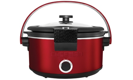 Chefman Slow Cooker with Carry Handle (5Qt.)