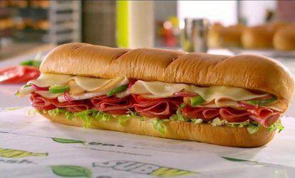 image for Sandwiches, Sides, and Drinks at Subway at The Hershey Tanger Outlets (40% Off). Two Options Available.