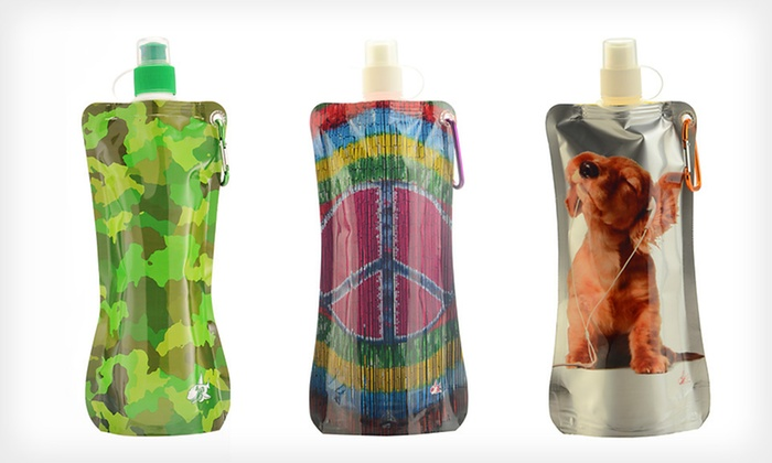 Sharkskinzz Folding Water Bottles: $10.99 for Three Sharkskinzz Folding Reusable Water Bottles ($23.85 List Price). Six Options Available. Free Returns.