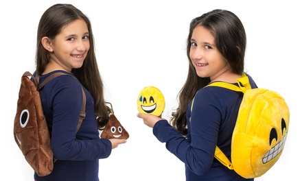 Emoticon Plush Wallet or Backpack