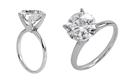 2.50 or 5.00 CTW Certified Diamond Solitaire Rings in 18K Gold from $3,699.99—$9,299.99