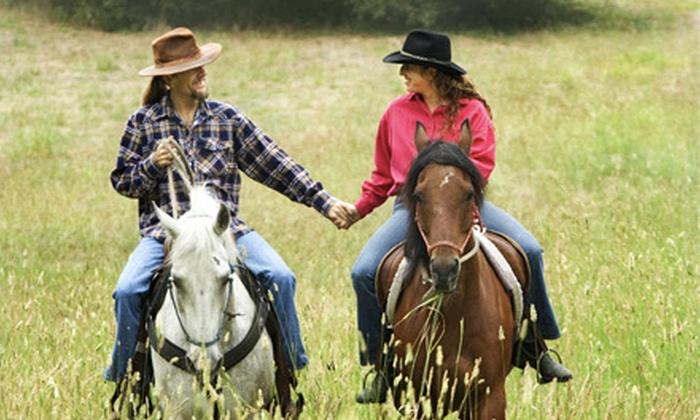 RG Horsemanship - Adairsville: Couples Horseback Trail Ride at RG Horsemanship (85% Off). Three Options Available.