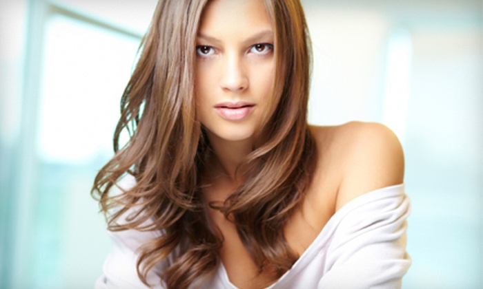 WM Hair at Escape Hair Salon - Canton: Haircut and Style with Options for Full Color and Partial Highlights at WM Hair at Escape Hair Salon (Up to 56% Off)