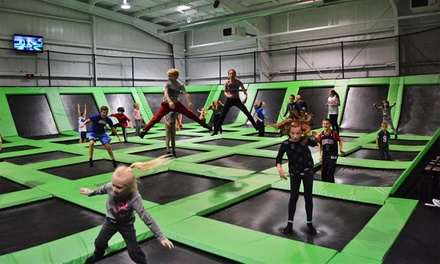 One-Hour Jump Passes at High Elevations Trampoline Park (Up to 45% Off). Four Options Available.