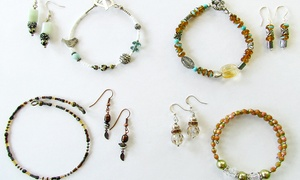 Panache Gems & Beads: Introductory Jewelry-Making Class for One, Two, or Four at Panache Gems & Beads (Up to 69% Off)