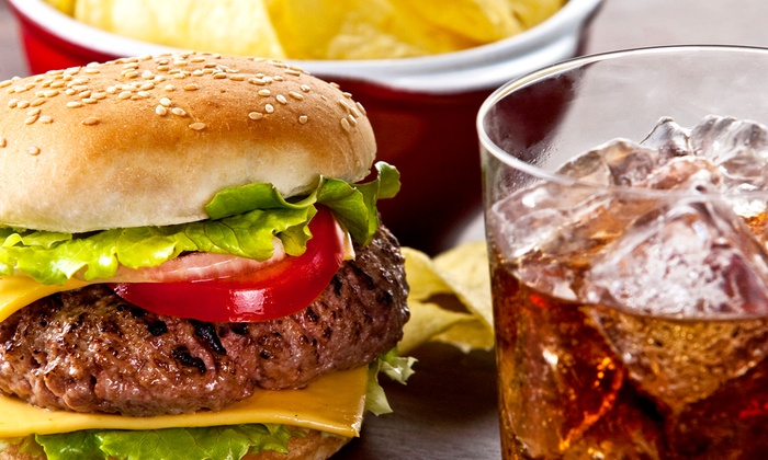 Baba's Restaurant - Beaumont: $15 for a Burger Meal with Fountain Drinks for Two at Baba's Restaurant (Up to $25.96 Value)