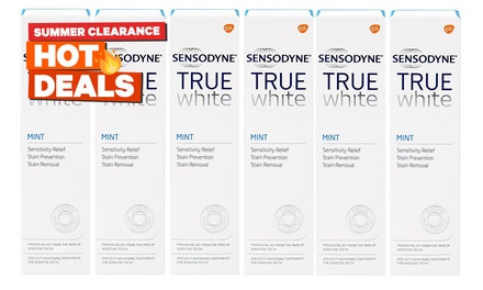 Sensodyne True White Mint Toothpastes: 6 $22.95 or 12 Tubes $39.95 Don't Pay up to $155.40