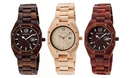 Earth Medullary Ray Men's Eco-Friendly Wood Watch
