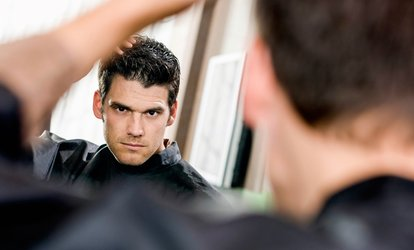 image for $8 for a Men's Haircut and Style at The Male Room Salon ($23 Value)
