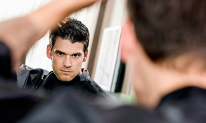 The Male Room: $9 for a Men's Haircut and Style at The Male Room Salon ($23 Value)