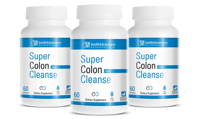 Buy 2 Get 1 Free: Super Colon Cleanse 1800: 1 Bottle of Smith Sörenson Nutraceuticals Super Colon Cleanse 1800 or 2 Bottles with 1 Bottle Free