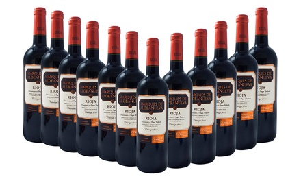 12 Bottles of Spanish Rioja Crianza Red Wine for £49.99 With Free Delivery (59% Off)