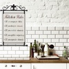 """Kitchen Rules 27""""x18"""" Metal and Fabric Wall Art"""