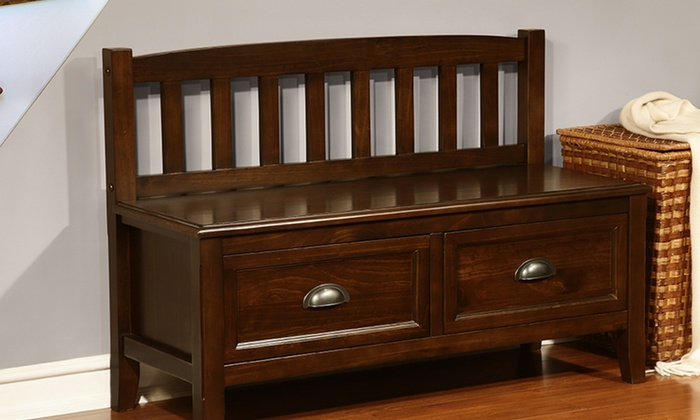 Jcpenney Foyer Furniture : Simpli home foyer storage bench groupon goods