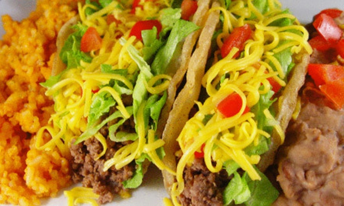 Tacos E Mas - Multiple Locations: $10 for $20 Worth of Mexican Food at Tacos E Mas
