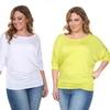 Women's Plus-Size 3/4-Sleeve Tunic Top
