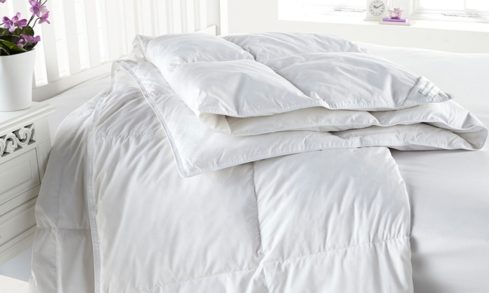 Groupon Goods Global GmbH: Goose Feather and Down Duvet from £22.99 With Free Delivery (Up to 68% Off)