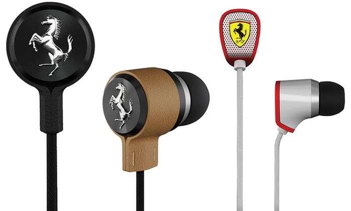 Ferrari in-Ear Headphones with Inline Microphone and Remote: Ferrari in-Ear Headphones with Inline Microphone and Remote. Multiple Styles Available. Free Returns.