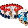 Set of Three Crystal Stretch Bracelets