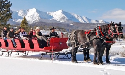 Dinner Sleigh Ride or Scenic Hot Cocoa Sleigh Ride for Two or Four from Breckenridge Stables (Up to 53% Off)