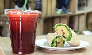 The Juice Box Cafe: $12 for Two Groupons, Each Good for $10 Worth of Juice and Café Fare at The Juice Box Café ($20 Value)