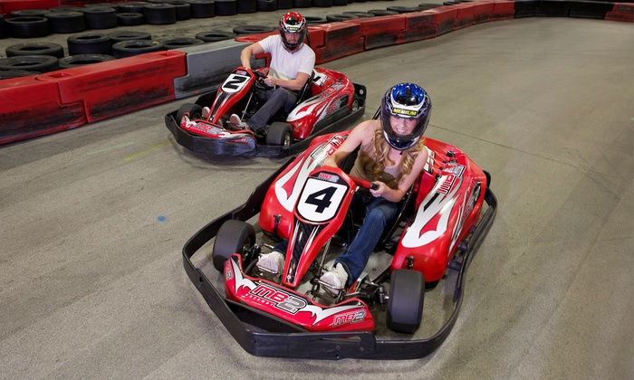 MB2 Raceway - Multiple Locations: One or Three Junior or Adult Go-Kart Races, or VIP Track Pass with Race Discounts at MB2 Raceway (Up to 54% Off)