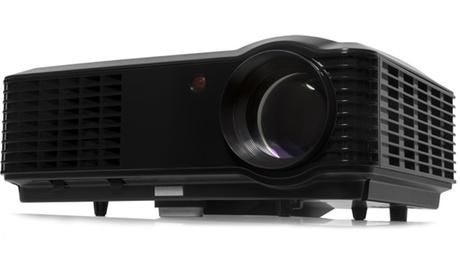 Proyector LED GoClever Cineo Vivid HD con 2.800 lúmenes, control remoto y cable de alimentación