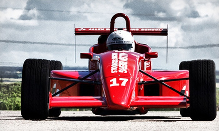 Allen Berg Racing School - Auto Club Speedway: Intro to Open Wheel Racing Course for One or Two at Allen Berg Racing School (Up to 51% Off)