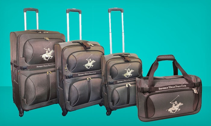 Beverly Hills Polo Club 4-Piece Luggage Set: $199.99 for a Beverly Hills Polo Club 4-Piece Nylon Luggage Set ($980 List Price). Free Shipping and Returns.