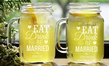 Personalized Couples Mason Jars