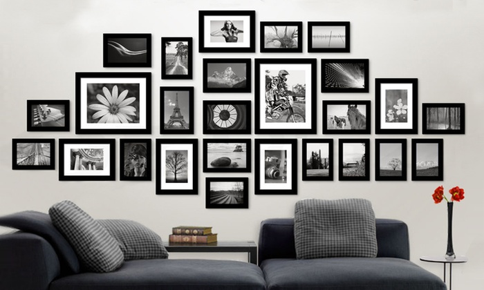 26 Piece Photo Frame Set Groupon