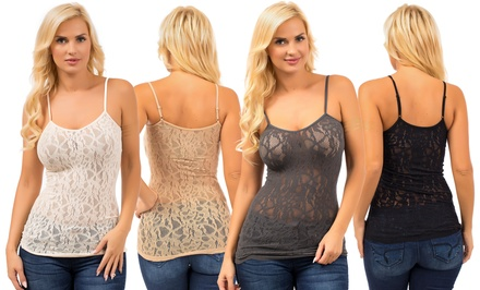 6-Pack of Women's Stretch Lace Camis