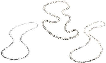 Men's Italian Heavyweight Chains in Sterling Silver